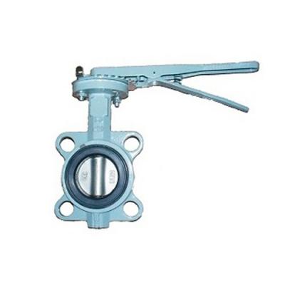 Затвор дисковый поворотный чугунный ABRA PN16 DN32-600 GG25 / AISI316 / NBR с рукояткой или редуктором