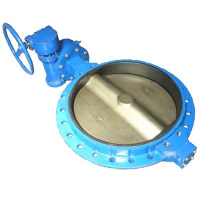 Затвор дисковый поворотный межфланцевый с редуктором PN10 и PN16 DN700-1200 GGG40 / GGG40 / EPDM