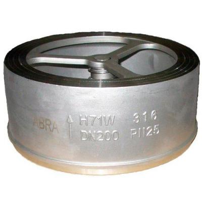 Обратный клапан нержавеющий из стали тарельчатый межфланцевый DN15-300 PN25
