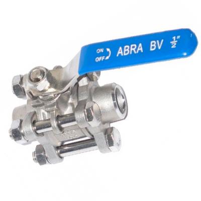Шаровые краны полнопроходные нержавеющие из стали DN8-100 PN40 сварка/сварка стандартные патрубки Тип ABRA-BV61A